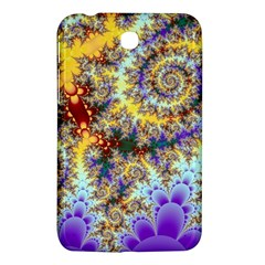 Desert Winds, Abstract Gold Purple Cactus  Samsung Galaxy Tab 3 (7 ) P3200 Hardshell Case  by DianeClancy