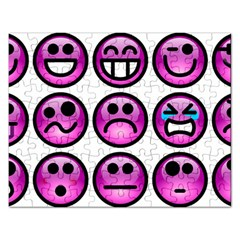 Chronic Pain Emoticons Jigsaw Puzzle (rectangle) by FunWithFibro