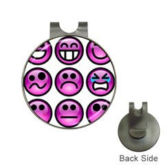 Chronic Pain Emoticons Hat Clip With Golf Ball Marker by FunWithFibro