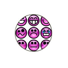 Chronic Pain Emoticons Golf Ball Marker 10 Pack (for Hat Clip) by FunWithFibro