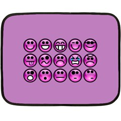 Chronic Pain Emoticons Mini Fleece Blanket (two Sided) by FunWithFibro