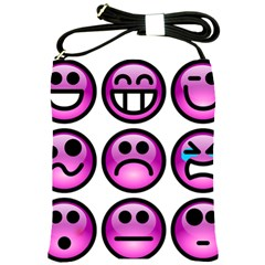 Chronic Pain Emoticons Shoulder Sling Bag by FunWithFibro