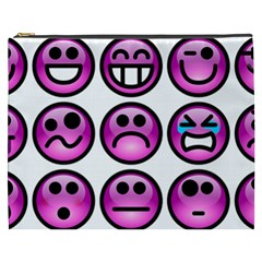 Chronic Pain Emoticons Cosmetic Bag (xxxl) by FunWithFibro