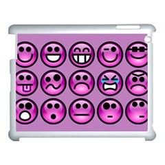 Chronic Pain Emoticons Apple Ipad 3/4 Case (white) by FunWithFibro