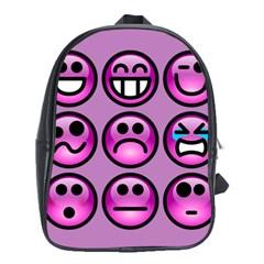 Chronic Pain Emoticons School Bag (xl) by FunWithFibro