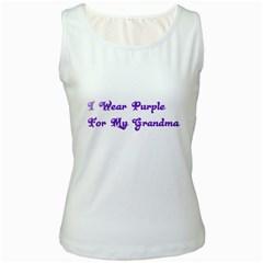 I Wear Purple For My Grandma Women s Tank Top (White) by FunWithFibro