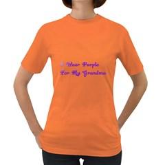 I Wear Purple For My Grandma Women s T Shirt (colored) by FunWithFibro