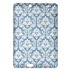 White On Light Blue Damask Kindle Fire Hd 7  (2nd Gen) Hardshell Case by Zandiepants