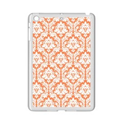 White On Orange Damask Apple Ipad Mini 2 Case (white) by Zandiepants