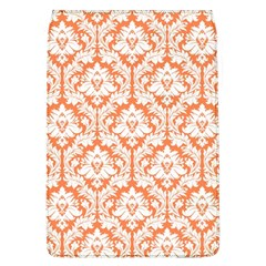 White On Orange Damask Removable Flap Cover (large) by Zandiepants