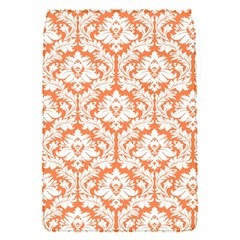 White On Orange Damask Removable Flap Cover (small) by Zandiepants