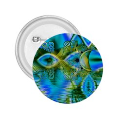 Mystical Spring, Abstract Crystal Renewal 2 25  Button by DianeClancy