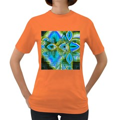 Mystical Spring, Abstract Crystal Renewal Women s T Shirt (colored) by DianeClancy