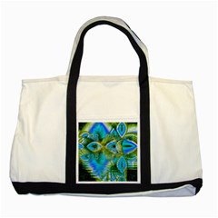 Mystical Spring, Abstract Crystal Renewal Two Toned Tote Bag by DianeClancy