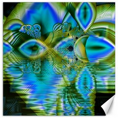 Mystical Spring, Abstract Crystal Renewal Canvas 16  X 16  (unframed)