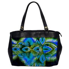 Mystical Spring, Abstract Crystal Renewal Oversize Office Handbag (one Side) by DianeClancy