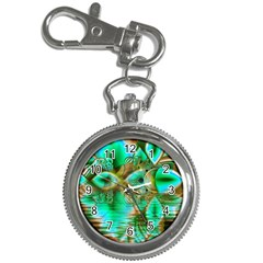 Spring Leaves, Abstract Crystal Flower Garden Key Chain Watch by DianeClancy