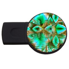 Spring Leaves, Abstract Crystal Flower Garden 2gb Usb Flash Drive (round) by DianeClancy