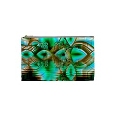 Spring Leaves, Abstract Crystal Flower Garden Cosmetic Bag (small) by DianeClancy