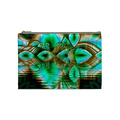 Spring Leaves, Abstract Crystal Flower Garden Cosmetic Bag (medium) by DianeClancy