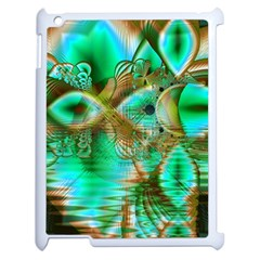 Spring Leaves, Abstract Crystal Flower Garden Apple Ipad 2 Case (white) by DianeClancy