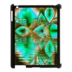 Spring Leaves, Abstract Crystal Flower Garden Apple Ipad 3/4 Case (black) by DianeClancy