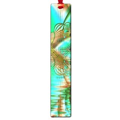 Spring Leaves, Abstract Crystal Flower Garden Large Bookmark by DianeClancy