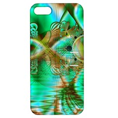Spring Leaves, Abstract Crystal Flower Garden Apple Iphone 5 Hardshell Case With Stand by DianeClancy