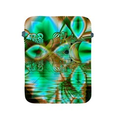 Spring Leaves, Abstract Crystal Flower Garden Apple Ipad Protective Sleeve by DianeClancy