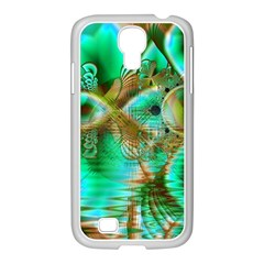 Spring Leaves, Abstract Crystal Flower Garden Samsung Galaxy S4 I9500/ I9505 Case (white) by DianeClancy