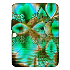 Spring Leaves, Abstract Crystal Flower Garden Samsung Galaxy Tab 3 (10 1 ) P5200 Hardshell Case  by DianeClancy