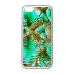 Spring Leaves, Abstract Crystal Flower Garden Apple Iphone 5c Seamless Case (white) by DianeClancy