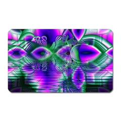 Evening Crystal Primrose, Abstract Night Flowers Magnet (rectangular) by DianeClancy