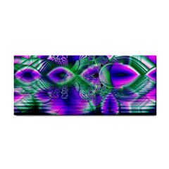 Evening Crystal Primrose, Abstract Night Flowers Hand Towel by DianeClancy