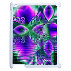 Evening Crystal Primrose, Abstract Night Flowers Apple Ipad 2 Case (white) by DianeClancy