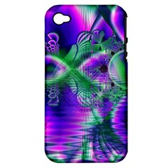 Evening Crystal Primrose, Abstract Night Flowers Apple Iphone 4/4s Hardshell Case (pc+silicone) by DianeClancy