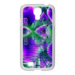 Evening Crystal Primrose, Abstract Night Flowers Samsung Galaxy S4 I9500/ I9505 Case (white) by DianeClancy