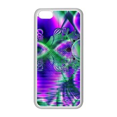 Evening Crystal Primrose, Abstract Night Flowers Apple Iphone 5c Seamless Case (white) by DianeClancy