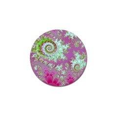 Raspberry Lime Surprise, Abstract Sea Garden  Golf Ball Marker 10 Pack by DianeClancy