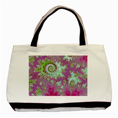 Raspberry Lime Surprise, Abstract Sea Garden  Classic Tote Bag by DianeClancy