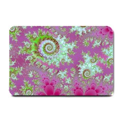 Raspberry Lime Surprise, Abstract Sea Garden  Small Door Mat by DianeClancy