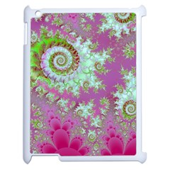 Raspberry Lime Surprise, Abstract Sea Garden  Apple Ipad 2 Case (white) by DianeClancy