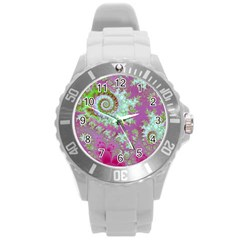 Raspberry Lime Surprise, Abstract Sea Garden  Plastic Sport Watch (large) by DianeClancy