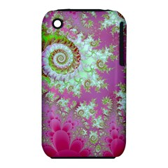 Raspberry Lime Surprise, Abstract Sea Garden  Apple Iphone 3g/3gs Hardshell Case (pc+silicone) by DianeClancy