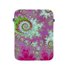Raspberry Lime Surprise, Abstract Sea Garden  Apple Ipad Protective Sleeve by DianeClancy