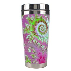 Raspberry Lime Surprise, Abstract Sea Garden  Stainless Steel Travel Tumbler