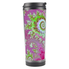 Raspberry Lime Surprise, Abstract Sea Garden  Travel Tumbler by DianeClancy