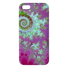Raspberry Lime Surprise, Abstract Sea Garden  Iphone 5s Premium Hardshell Case by DianeClancy