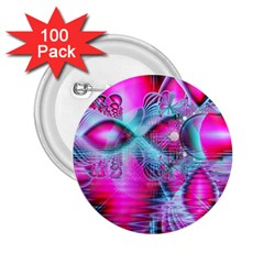 Ruby Red Crystal Palace, Abstract Jewels 2 25  Button (100 Pack) by DianeClancy