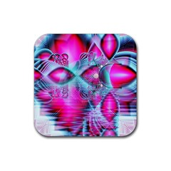 Ruby Red Crystal Palace, Abstract Jewels Drink Coasters 4 Pack (square) by DianeClancy